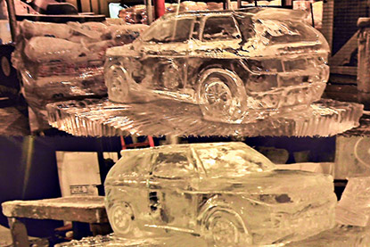 Landrover Ice Sculpture